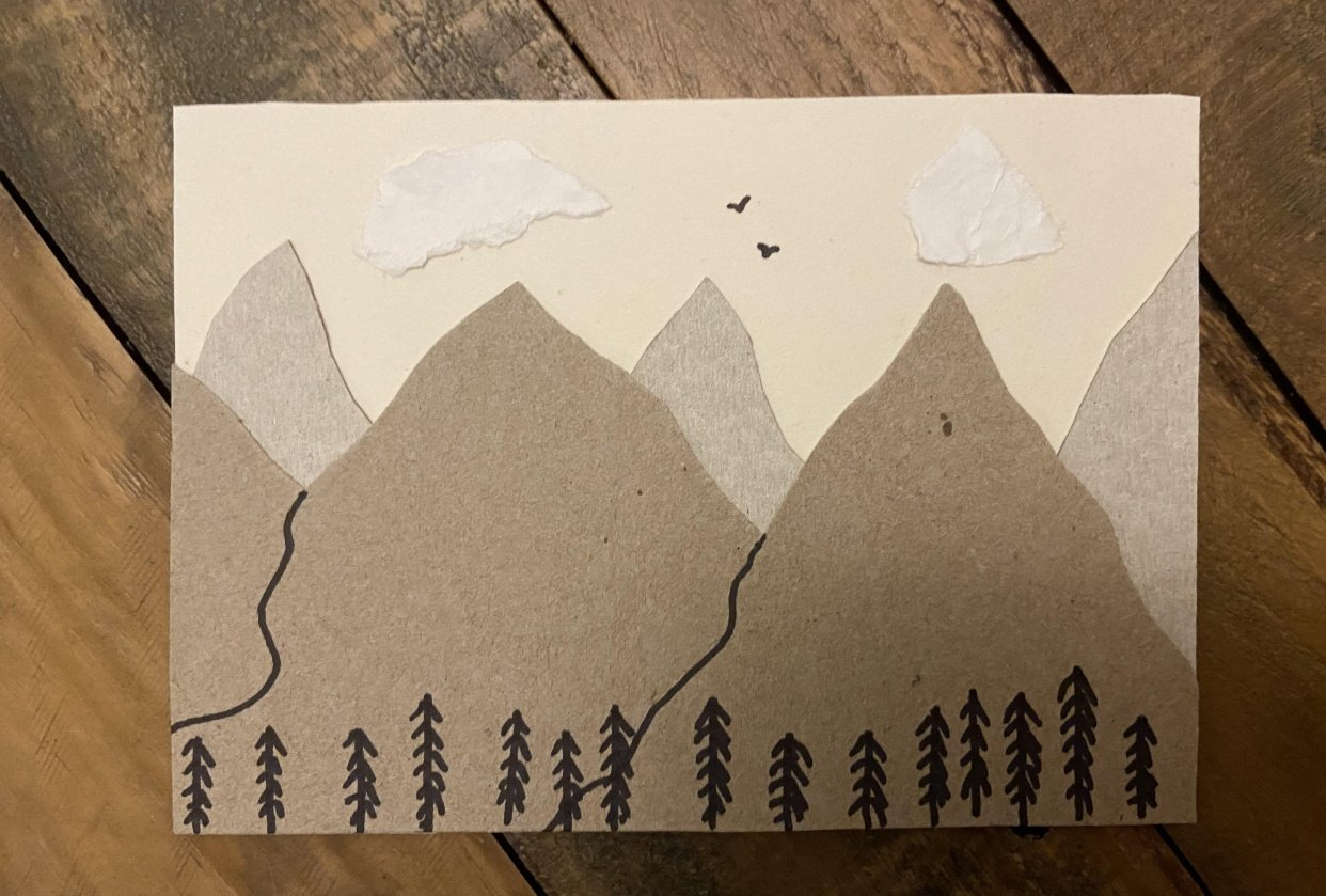 Recycled Postcard - student project