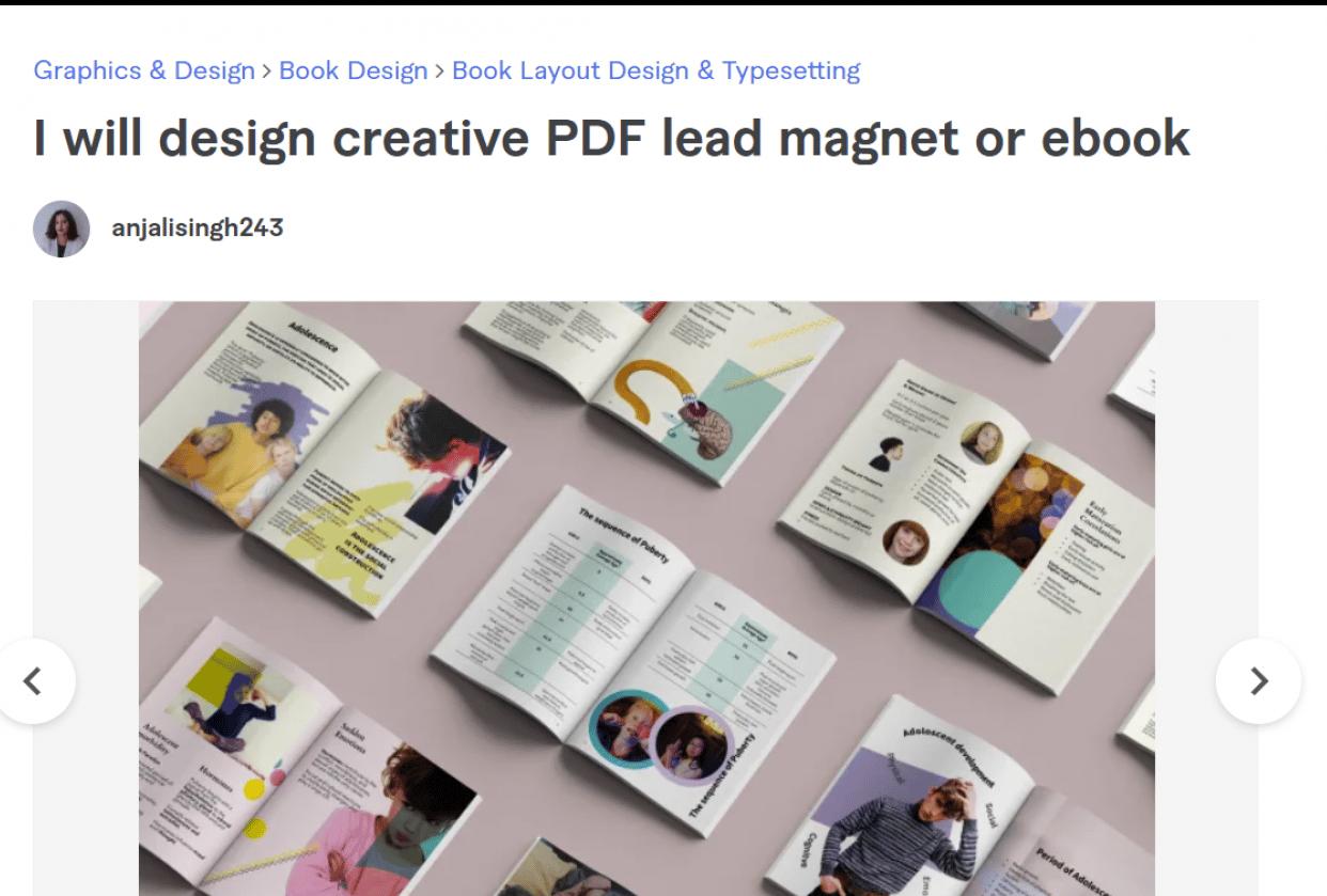Fiverr - PFF Design Gig - student project