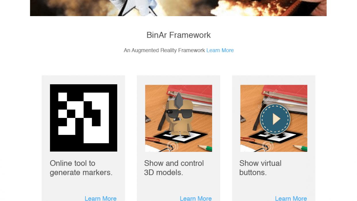 BinAr Framework Website - student project