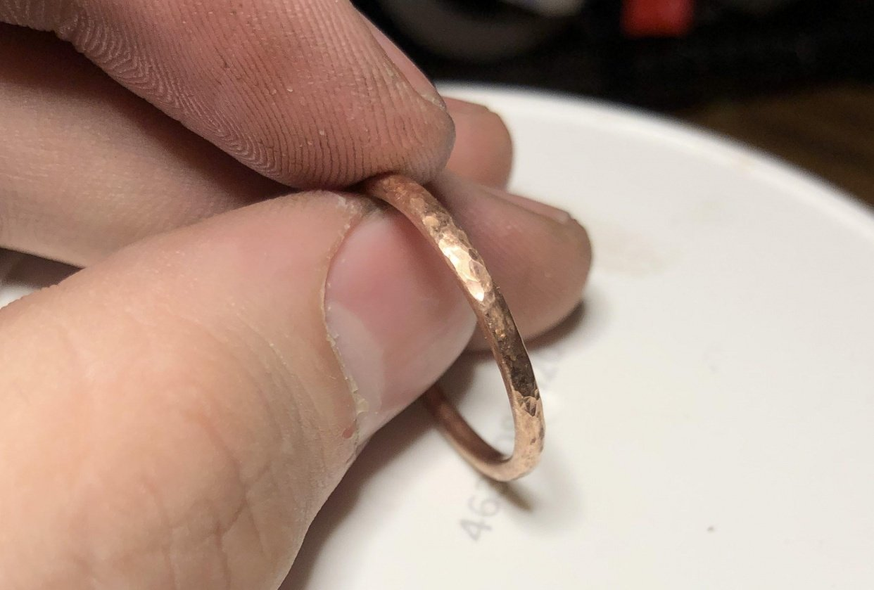 My first ring (copper practice) - student project