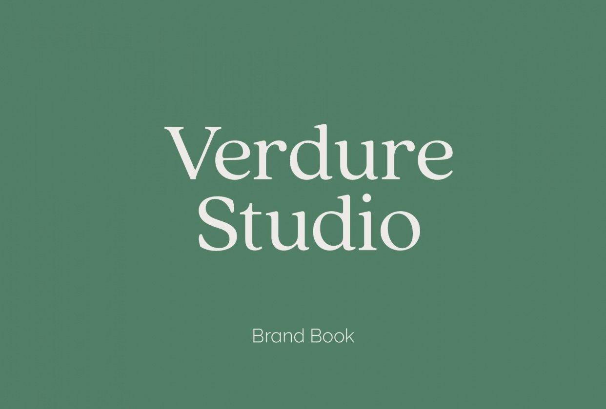 Verdure Studio Brand Book - student project