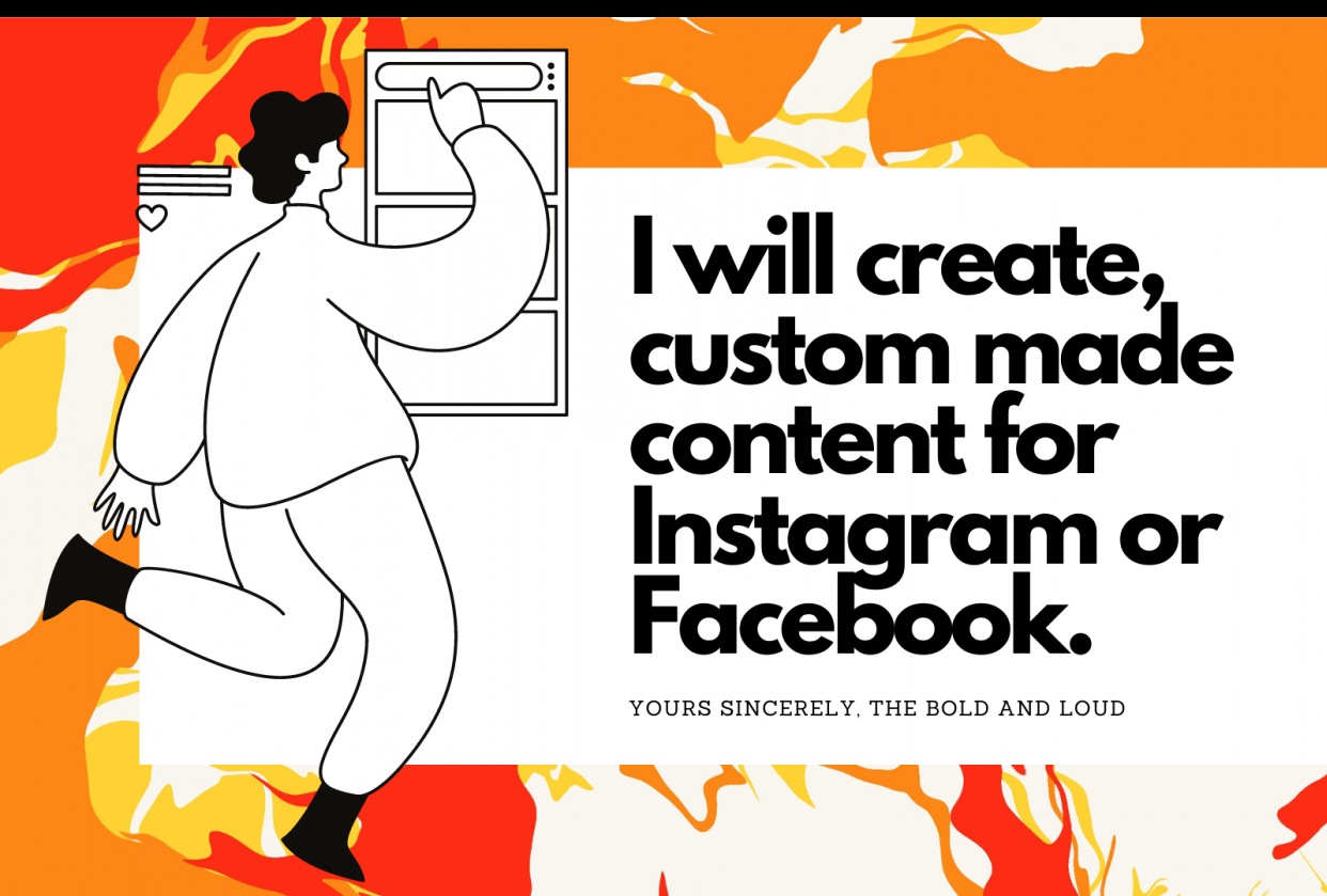 My Fiverr Gig- The Bold & Loud Social Media Content Creator - student project