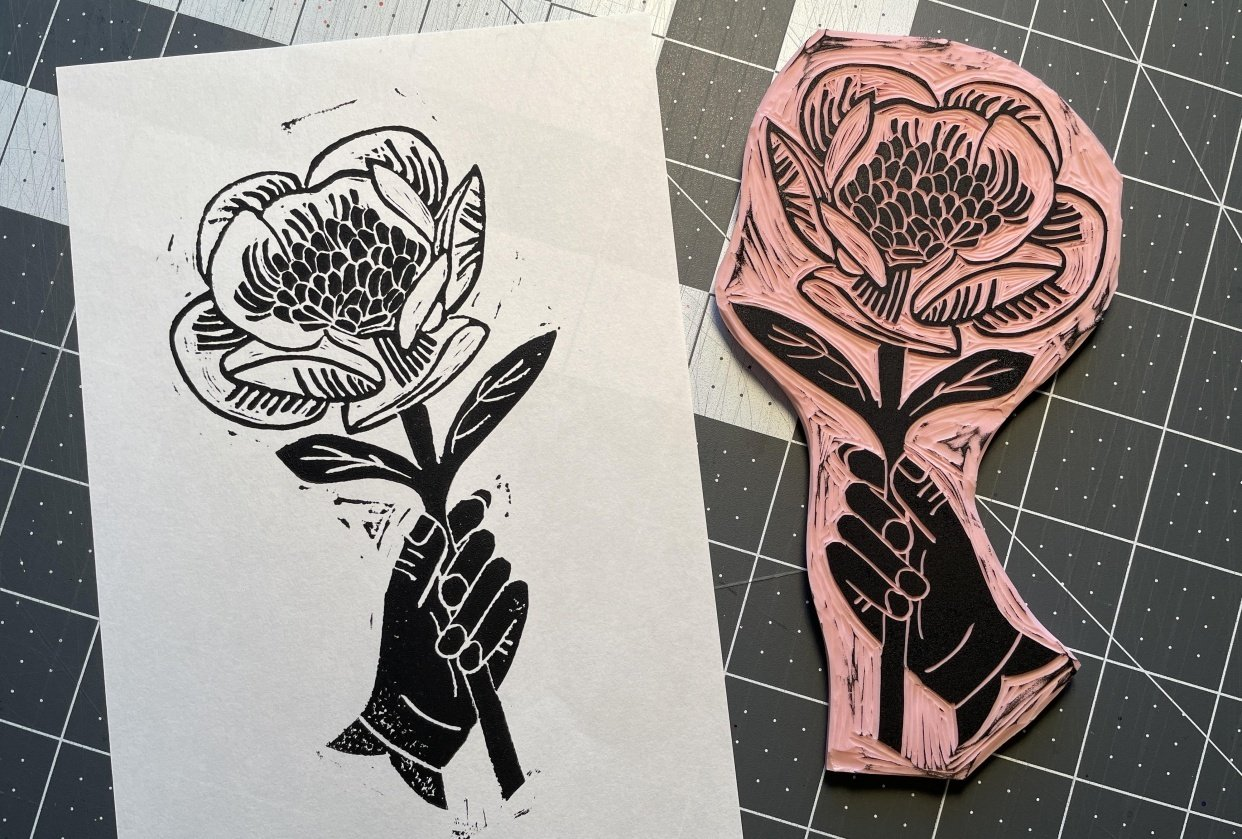 First block print! - student project