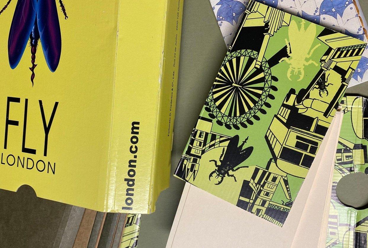 FLY LONDON Shoe Box Sketchbooks - student project