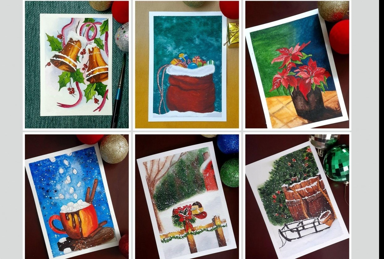Countdown to Christmas with 24 Beautiful Paintings - student project
