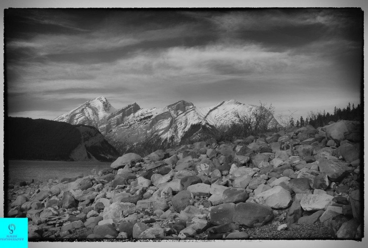 Beautiful Alberta mountains - student project