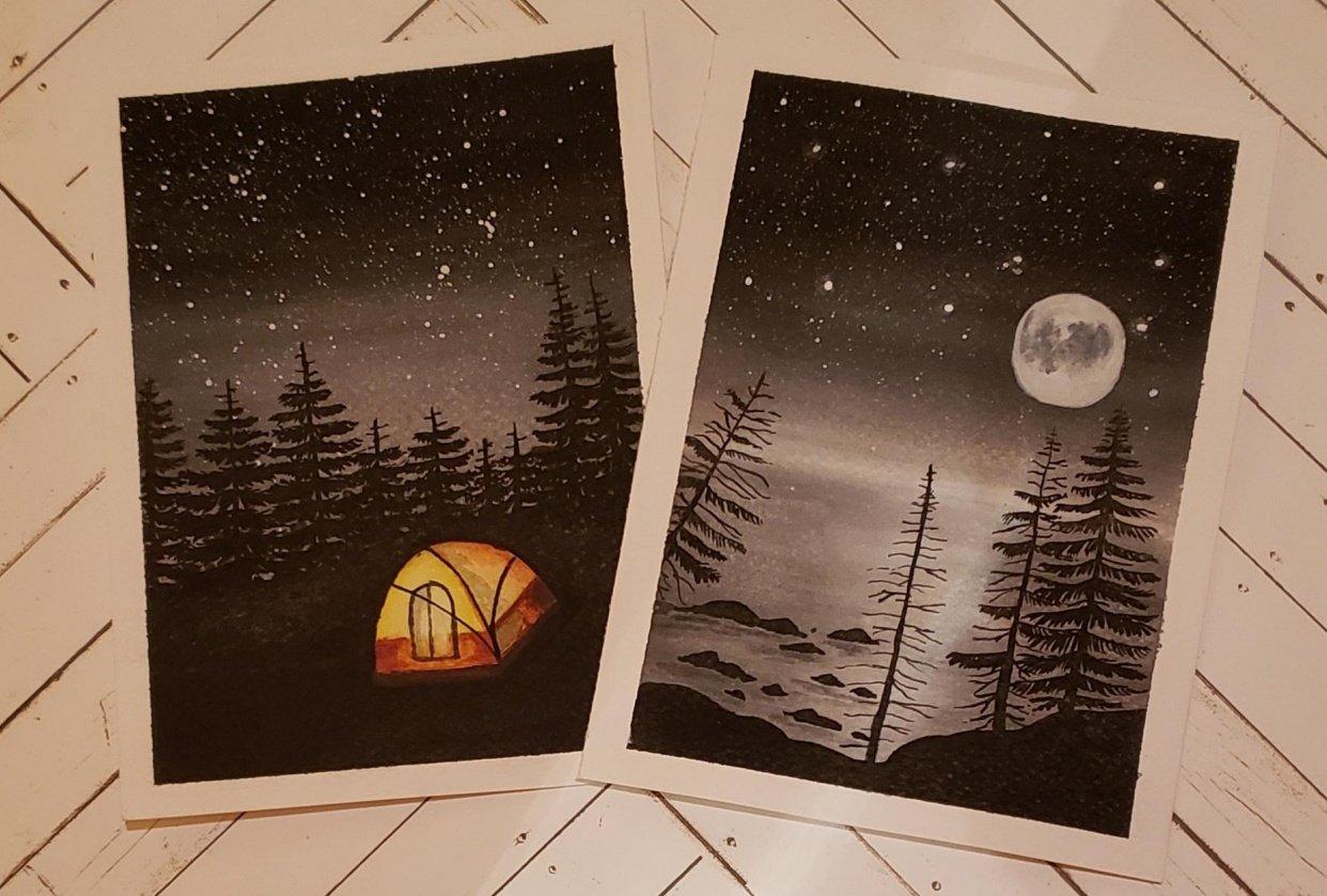 Campamento bajo las estrellas y Noche de luna llena - student project