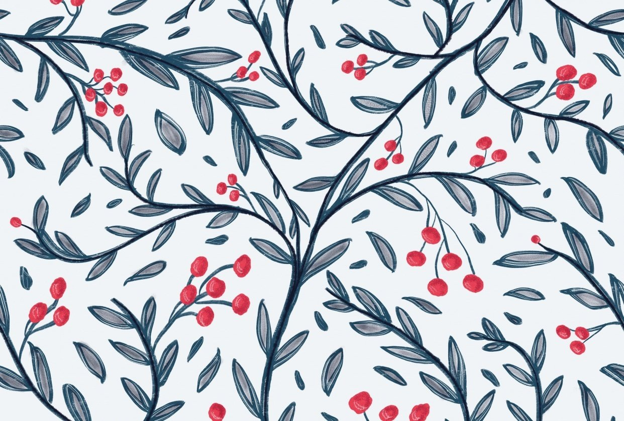 Pattern in procreate - student project