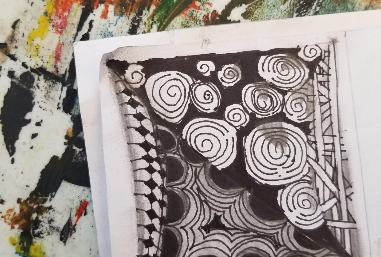 My zentangle tile. - student project