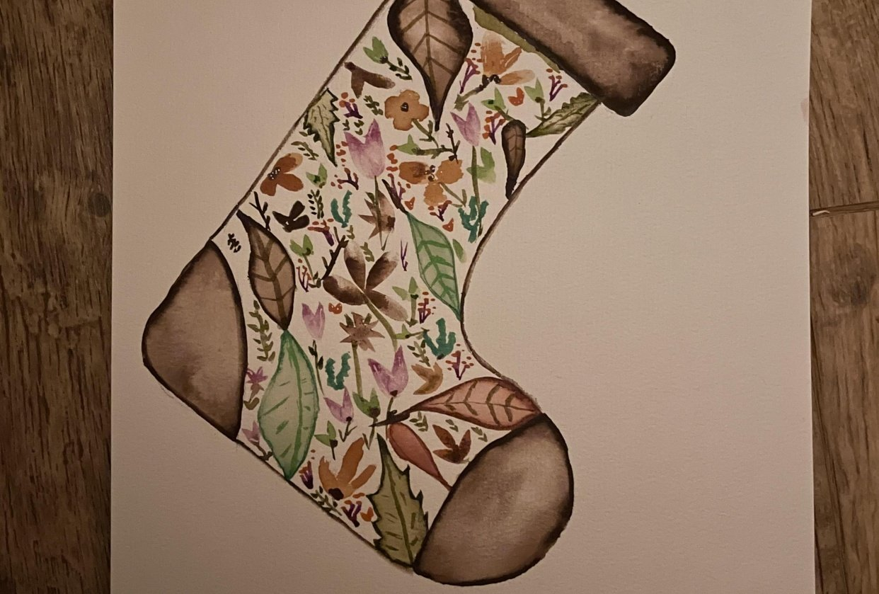 Floral Stocking - student project