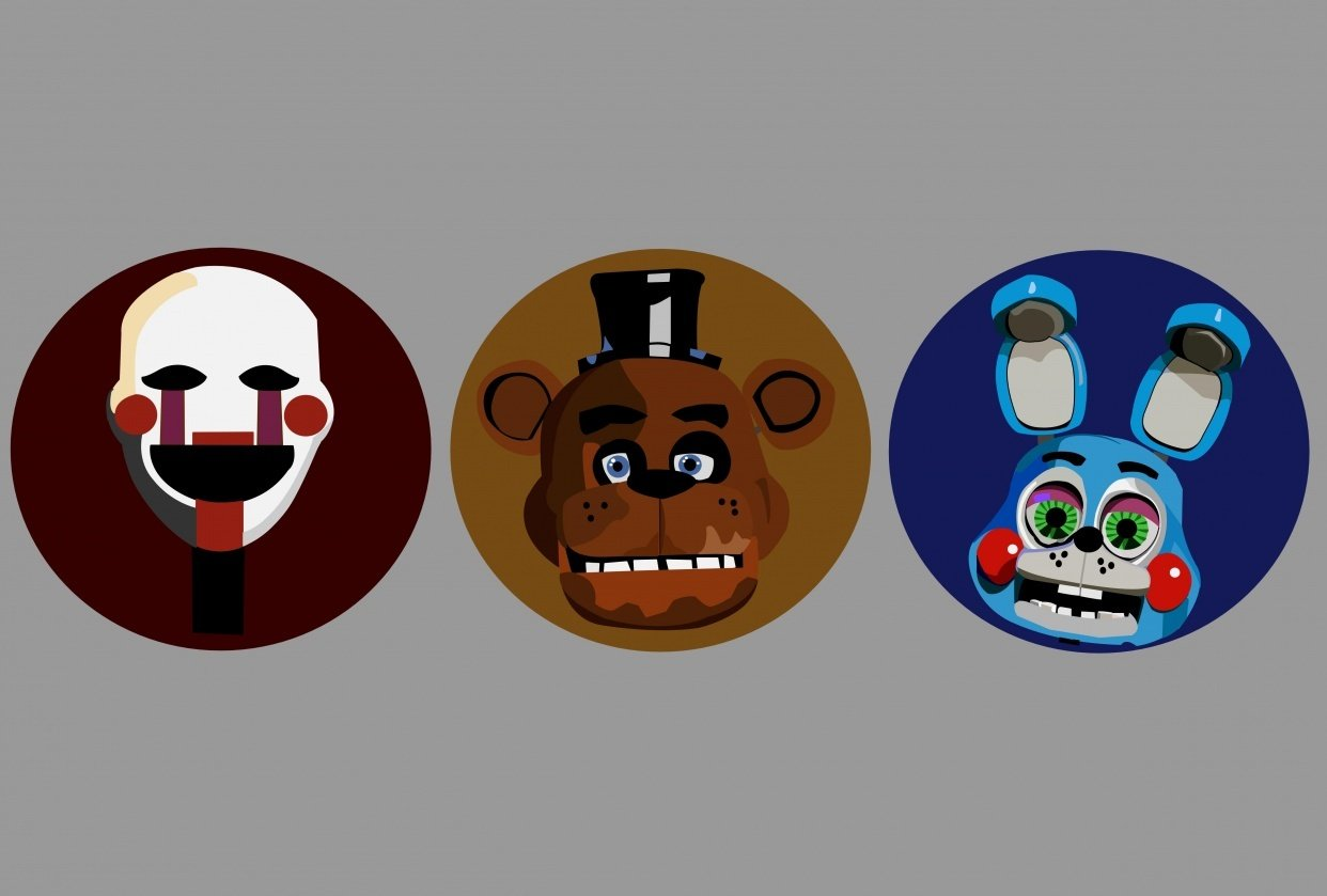 Five Nights at Freddy's icon set - student project
