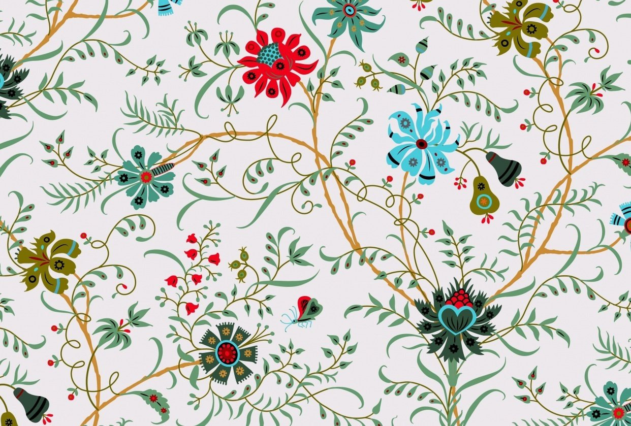 Fun with Indian Floral Patterns - student project