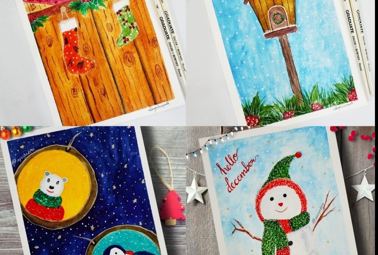 My Christmas Postcards - student project