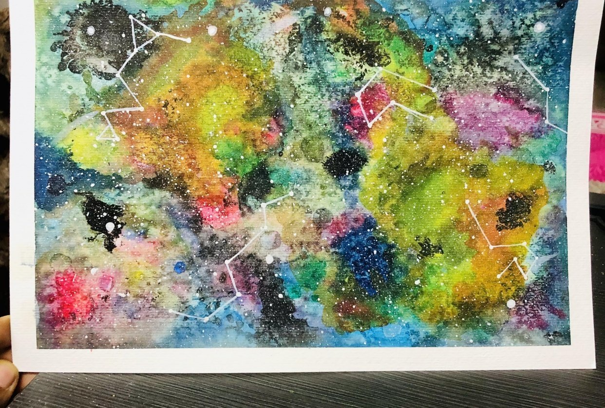 Modern Watercolour techniques - student project
