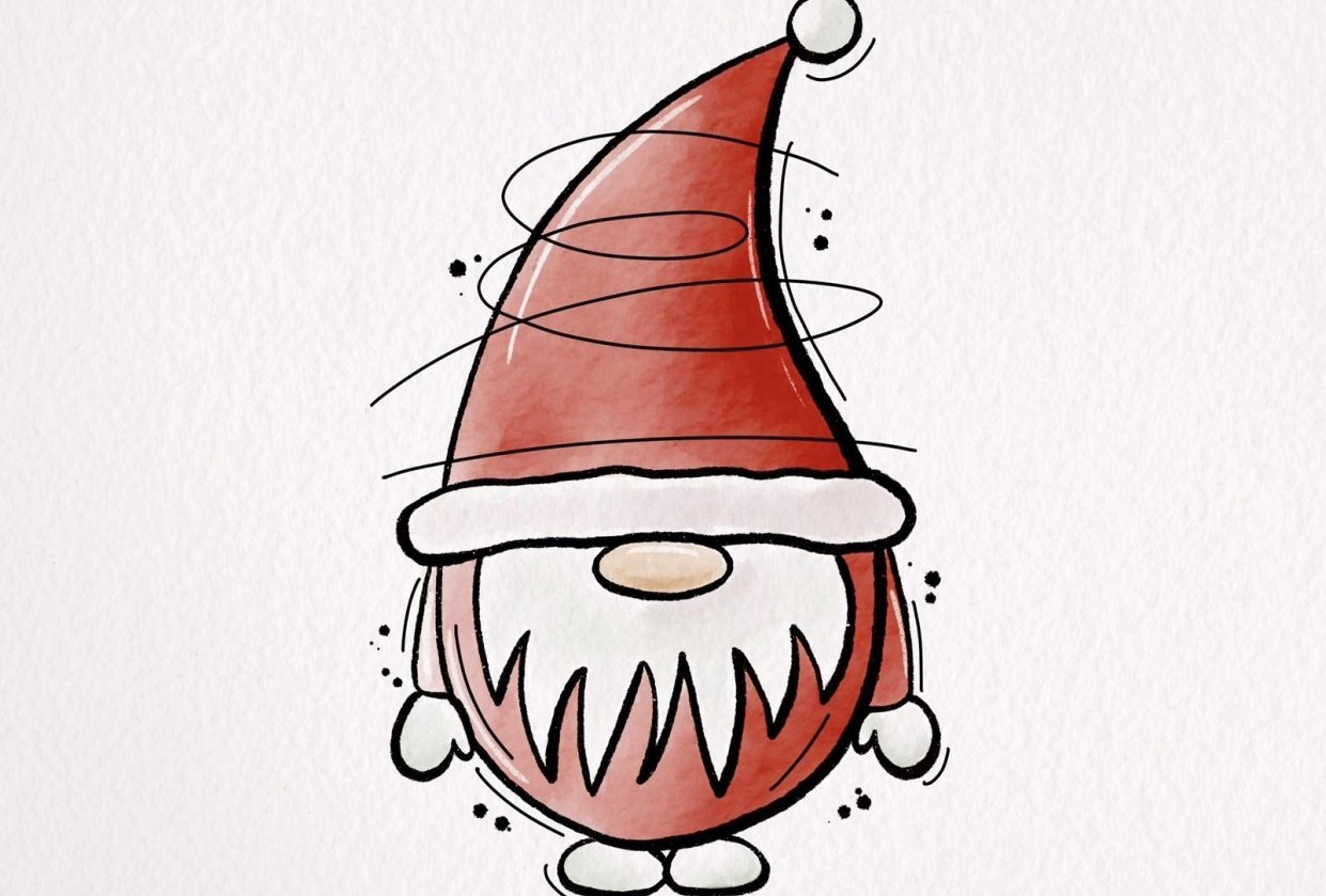 Santa doodle - student project