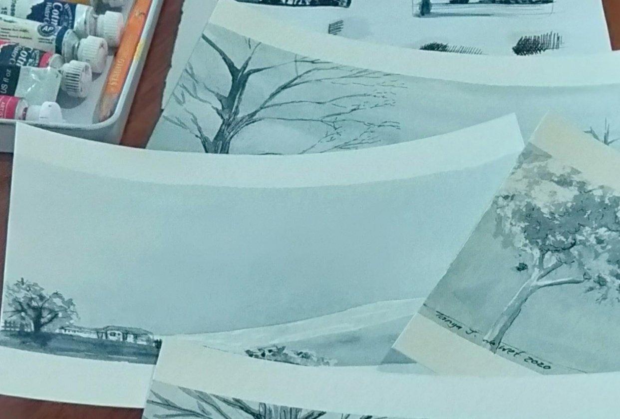 Indigo Postcard Close up - student project