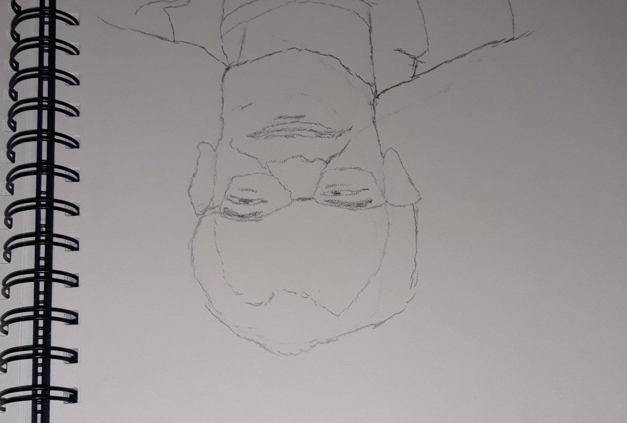 Upside down man - student project