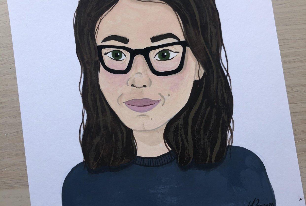 Gouache Portrait - student project
