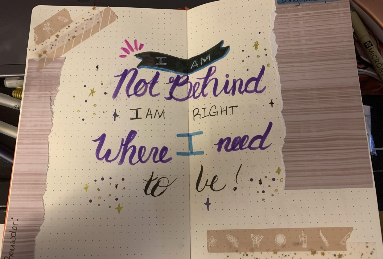 Affirmation layout - student project