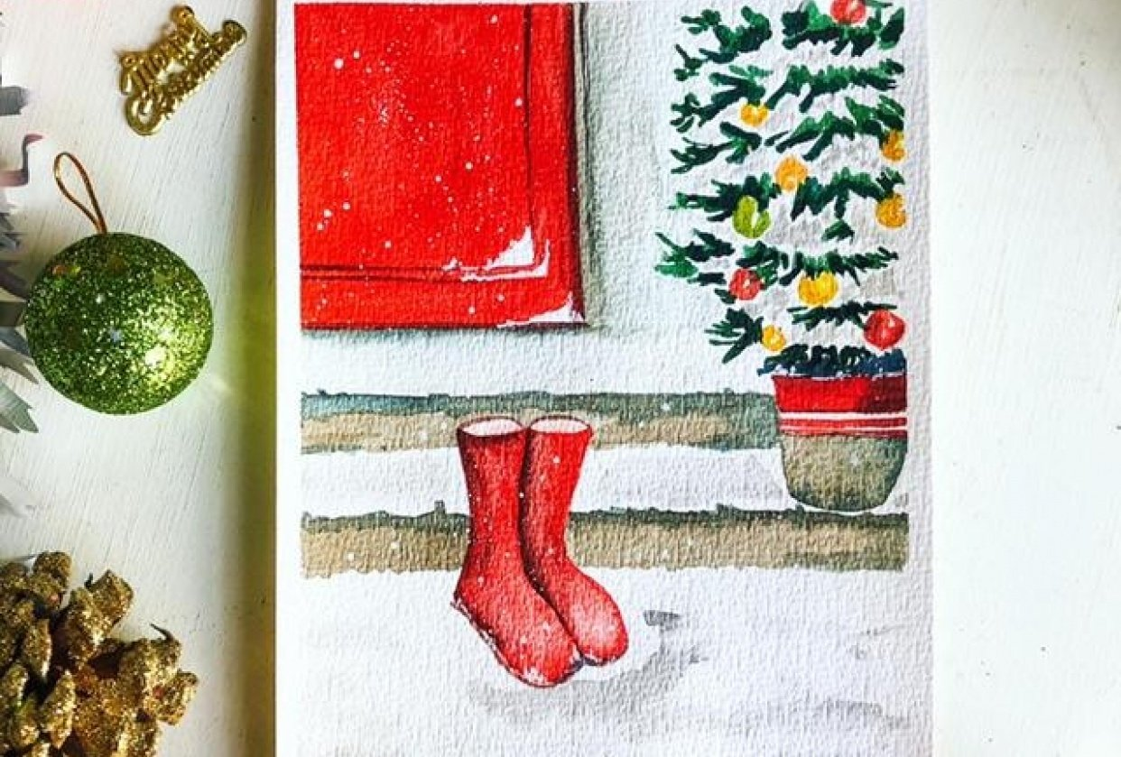 Christmas boots - student project