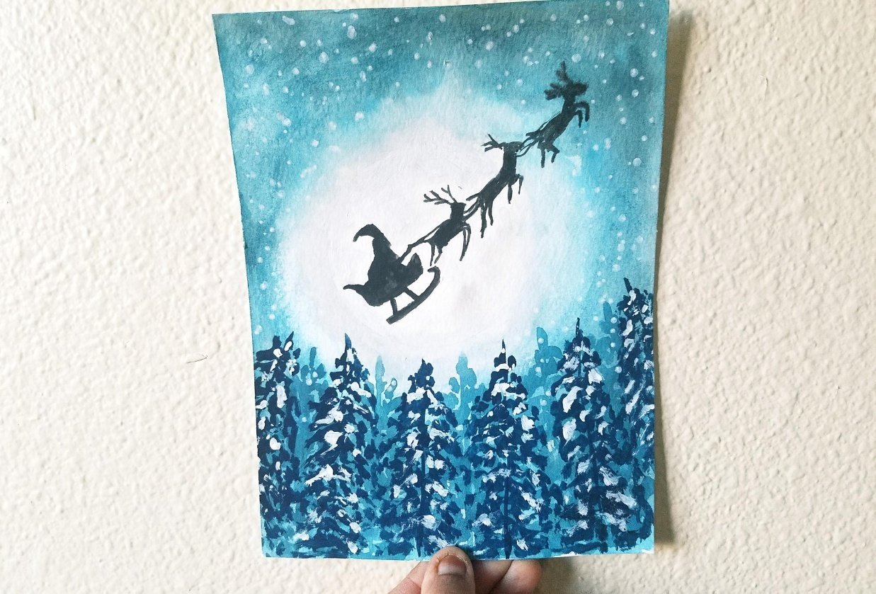 Christmas Postcards - student project