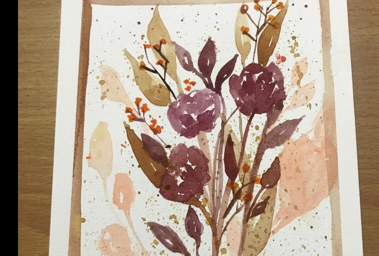 Autumnal Watercolor Bouquets - student project