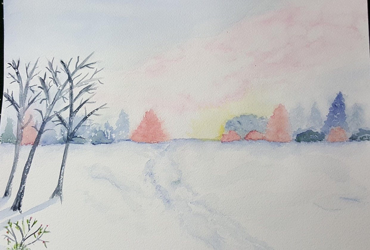 Snowy Afternoon - student project