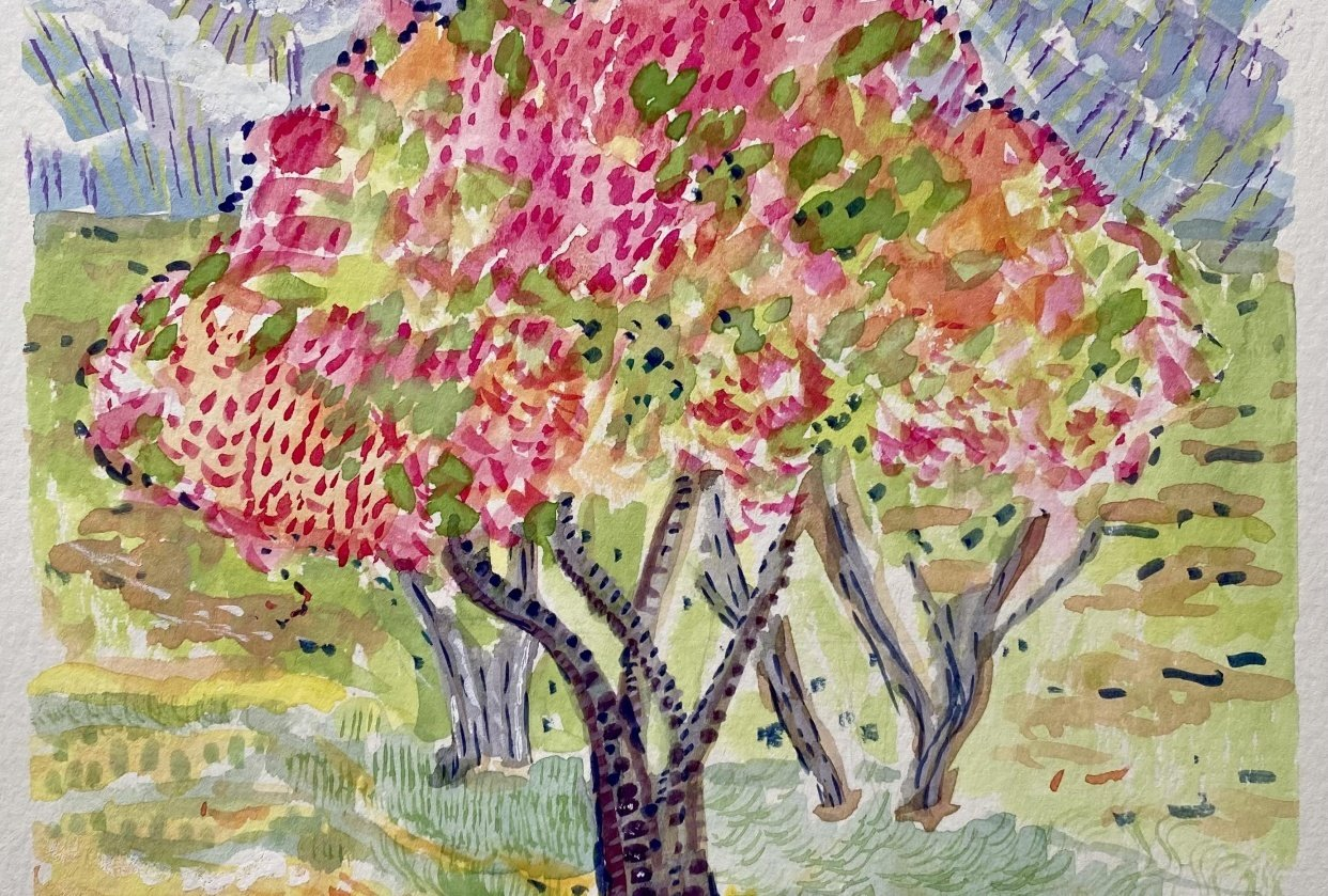 Pink Fall Tree - student project