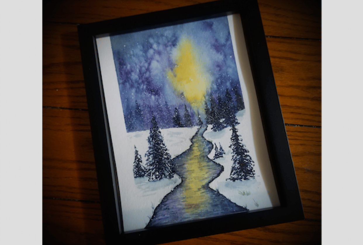 Easy Winter Landscape - student project
