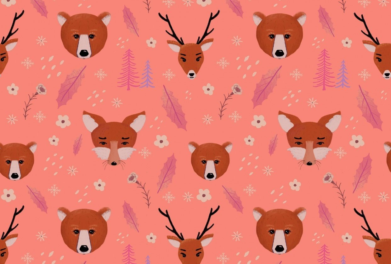 Seamless forest pattern - student project