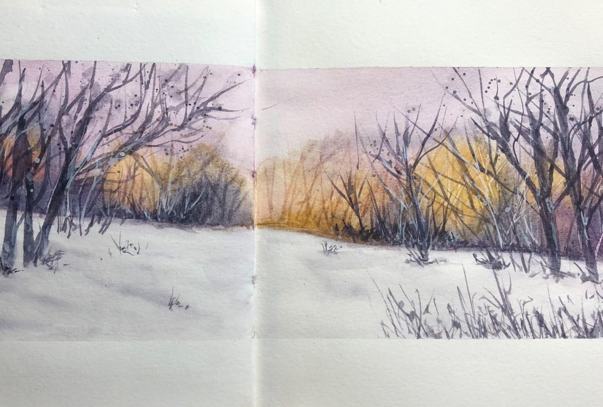 snowy landscape - Kerstin - student project
