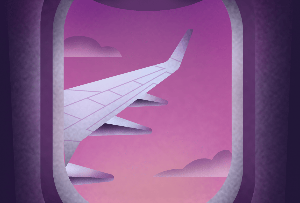Plane window illustration - student project