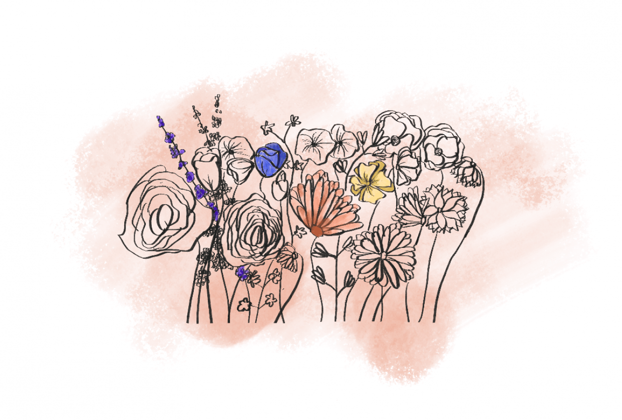 Having lots of fun with these flowers - student project