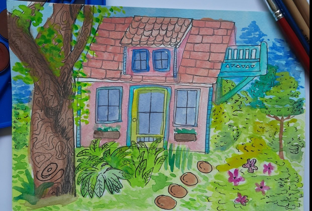 Greenery Pink House - student project