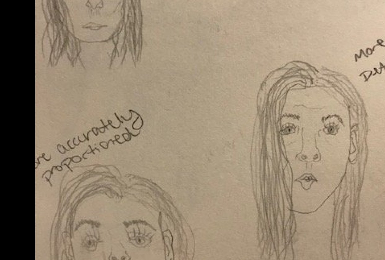 Self Portrait Exercises - student project