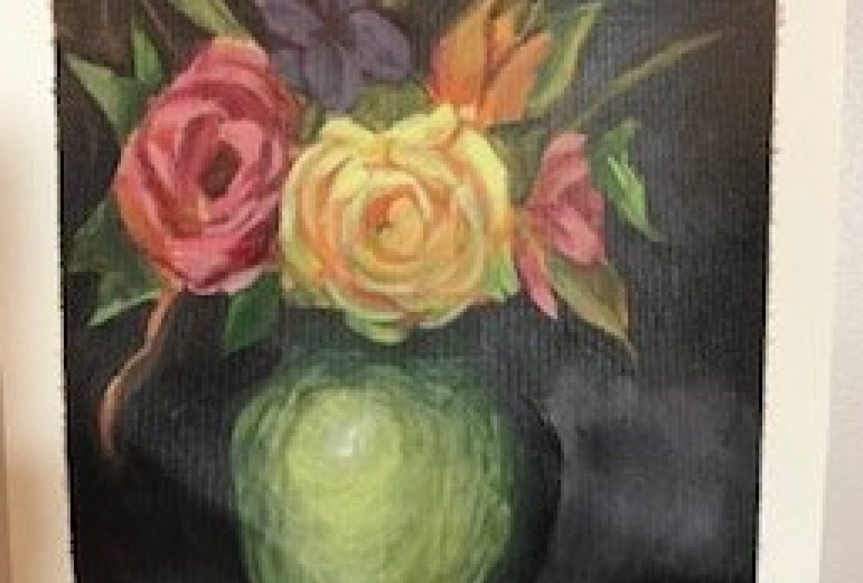 Acrylic flowers - student project