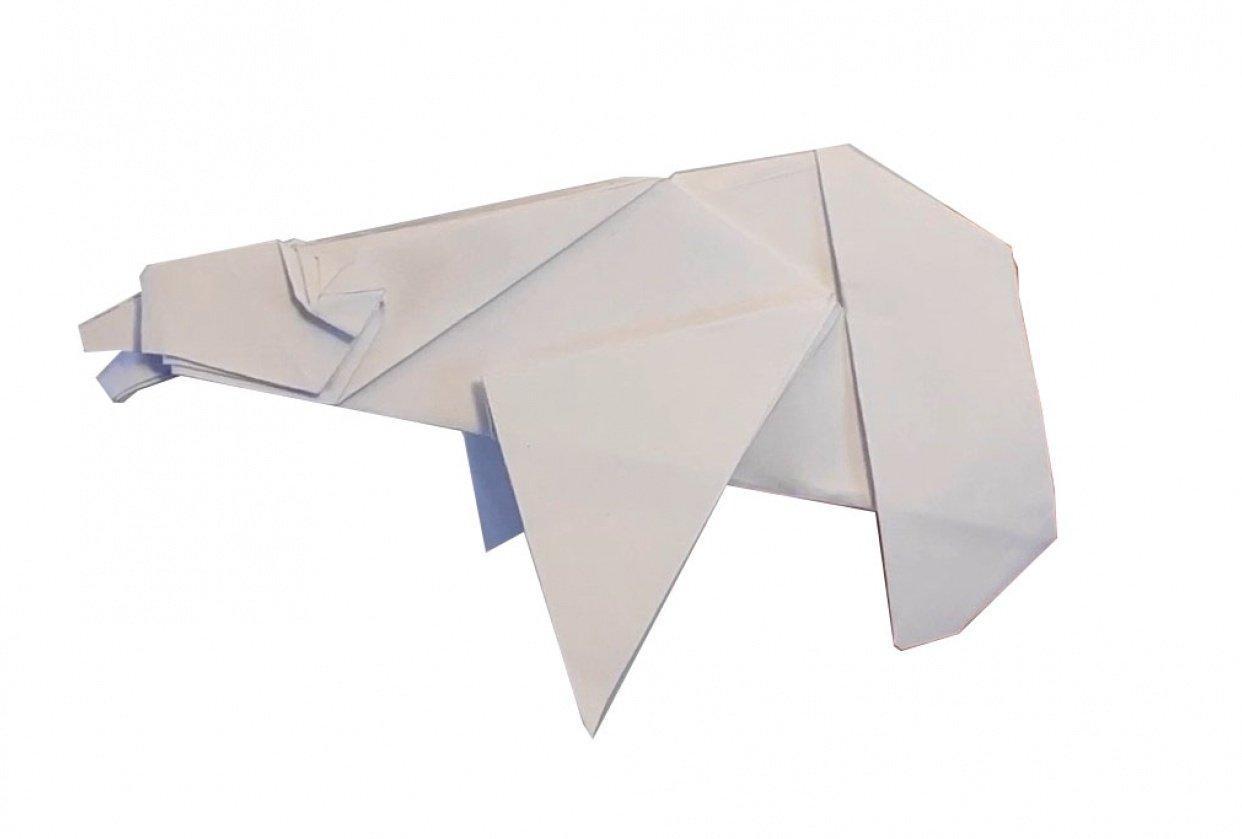 Origami Polar Bear - student project