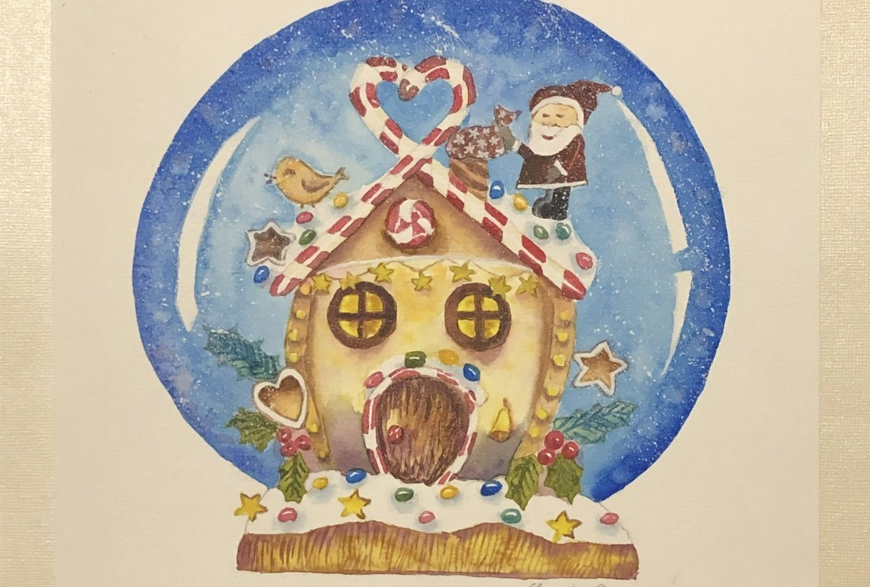 Gingerbread House in a Snow Globe! - student project