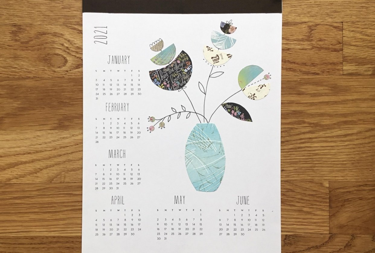Collage calendar - student project
