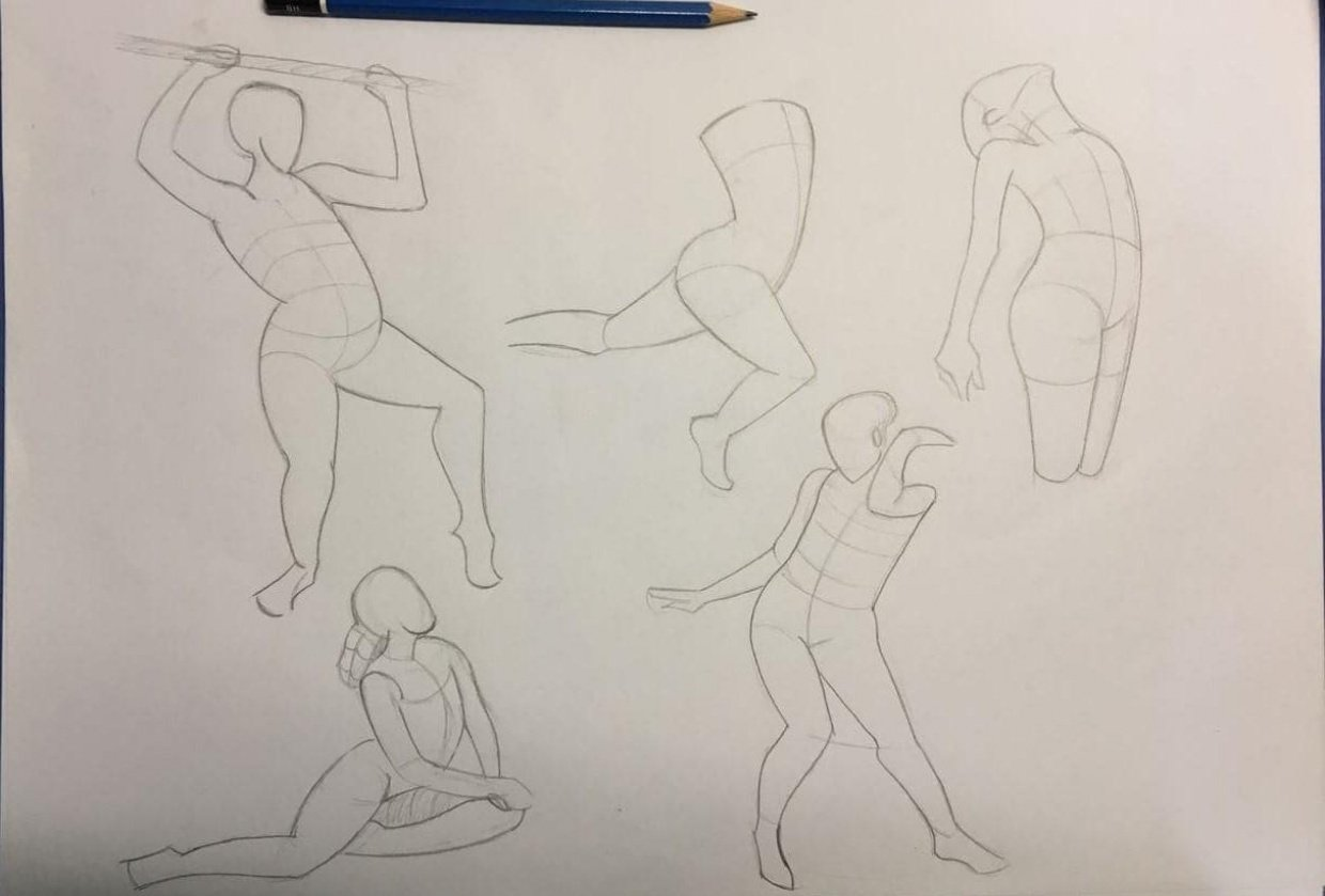 Gesture drawing, session 1 - student project