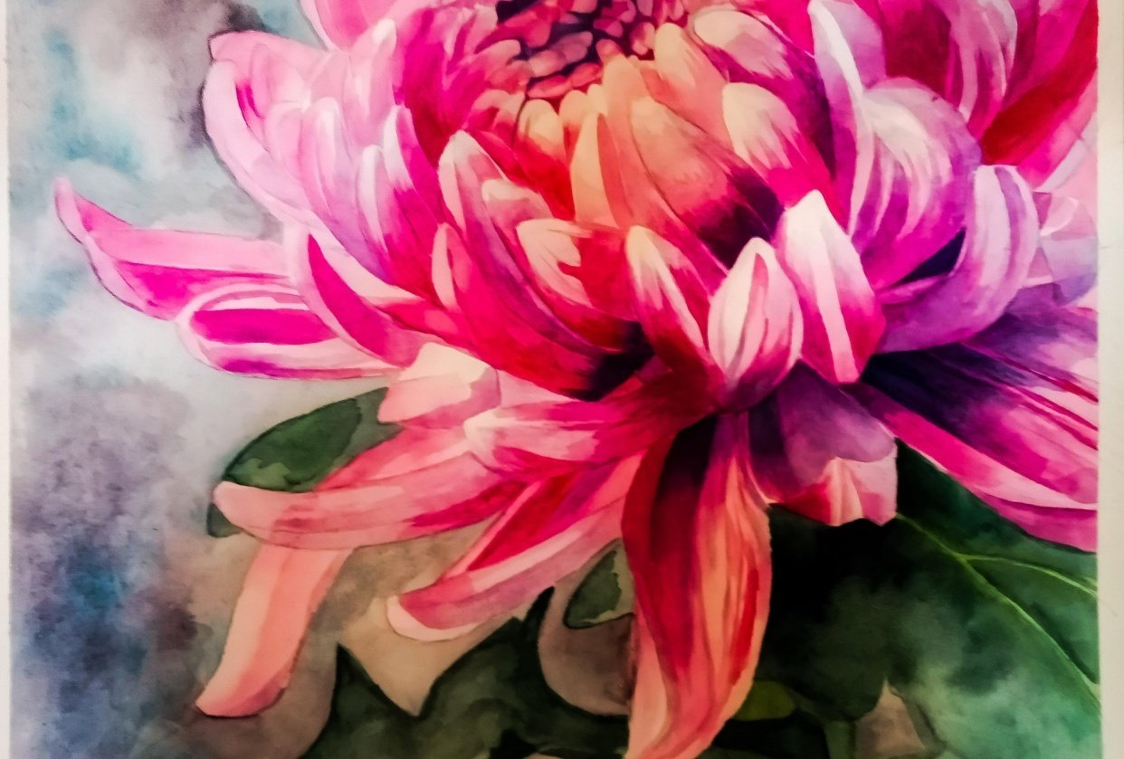 Louise de Masi class - Chrysanthemum - student project