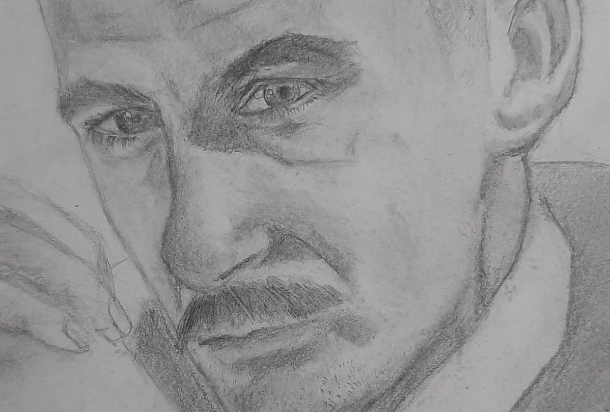 Pencil drawing (mechanical pencil 0.7 2B) - student project