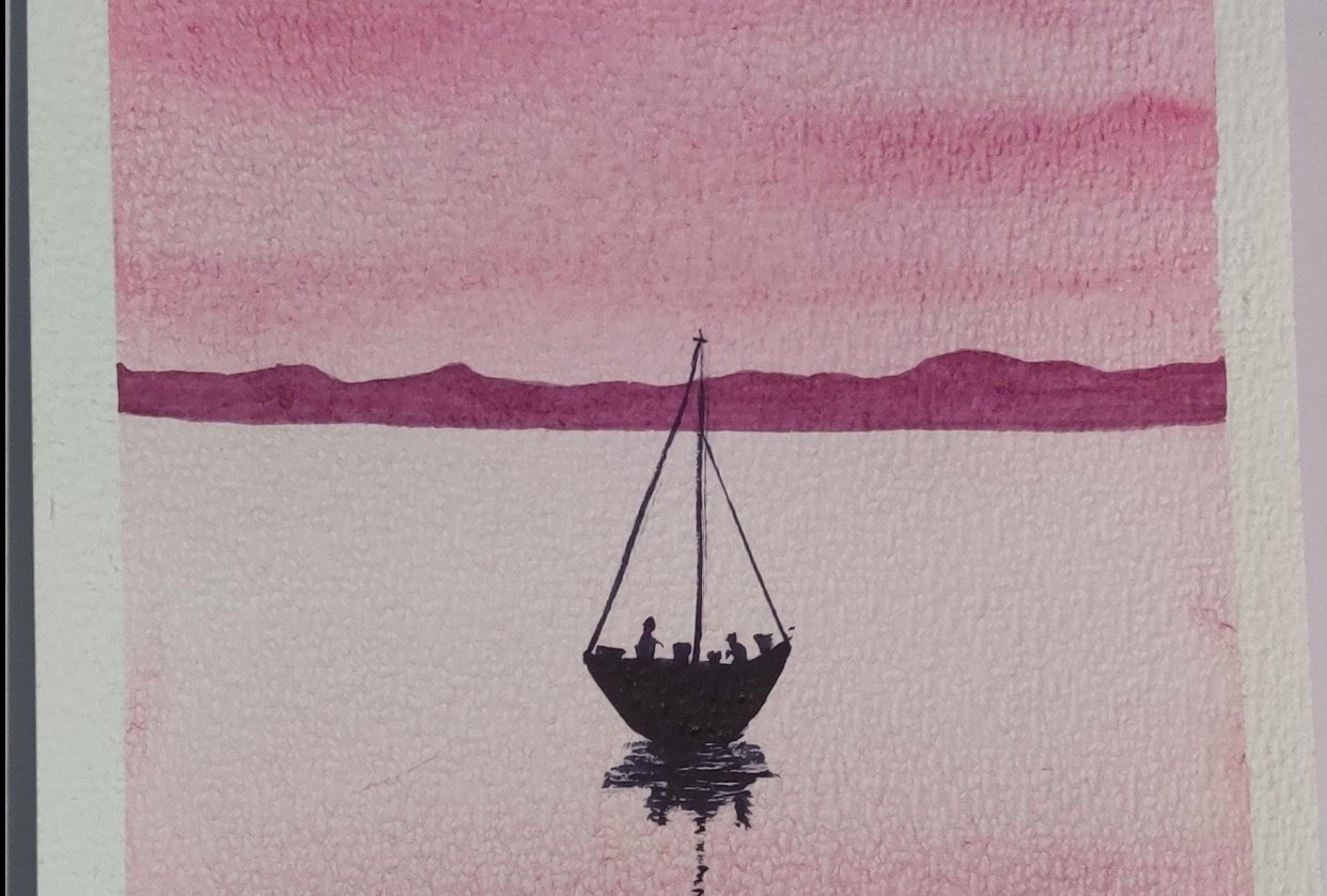 Relaxing Watercolour Projects for Beginners: Simple Skies & Silhouettes - student project
