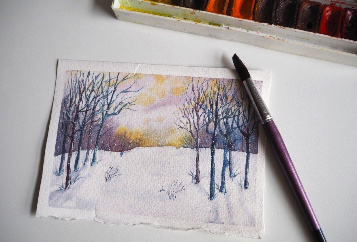 Snowy scene - student project