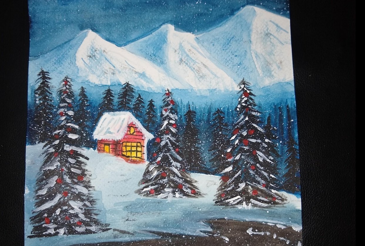 Snowy landscape - student project