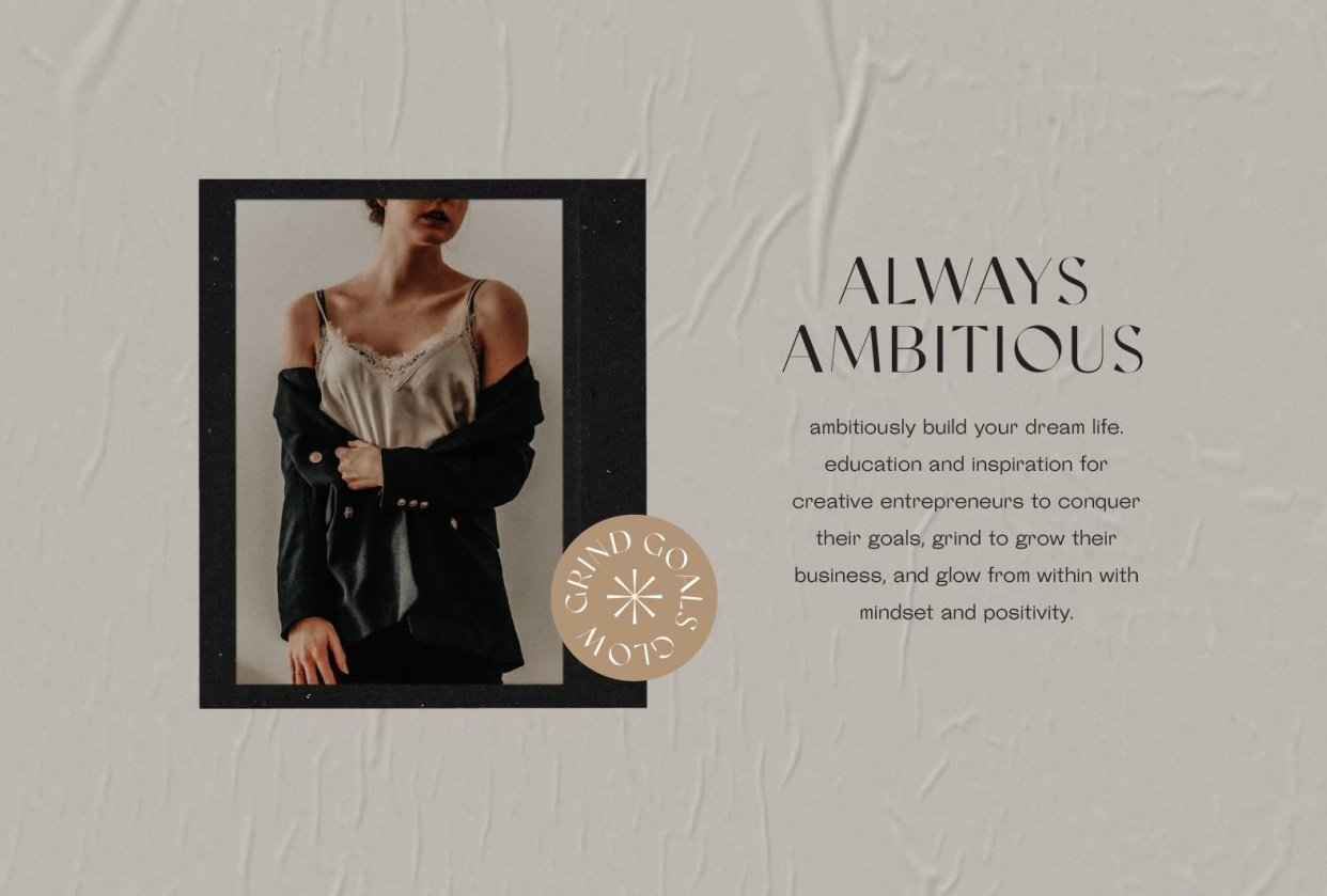 Brand Bible for Always Ambitious - student project