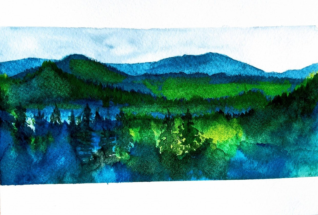 Mountain landscape - student project