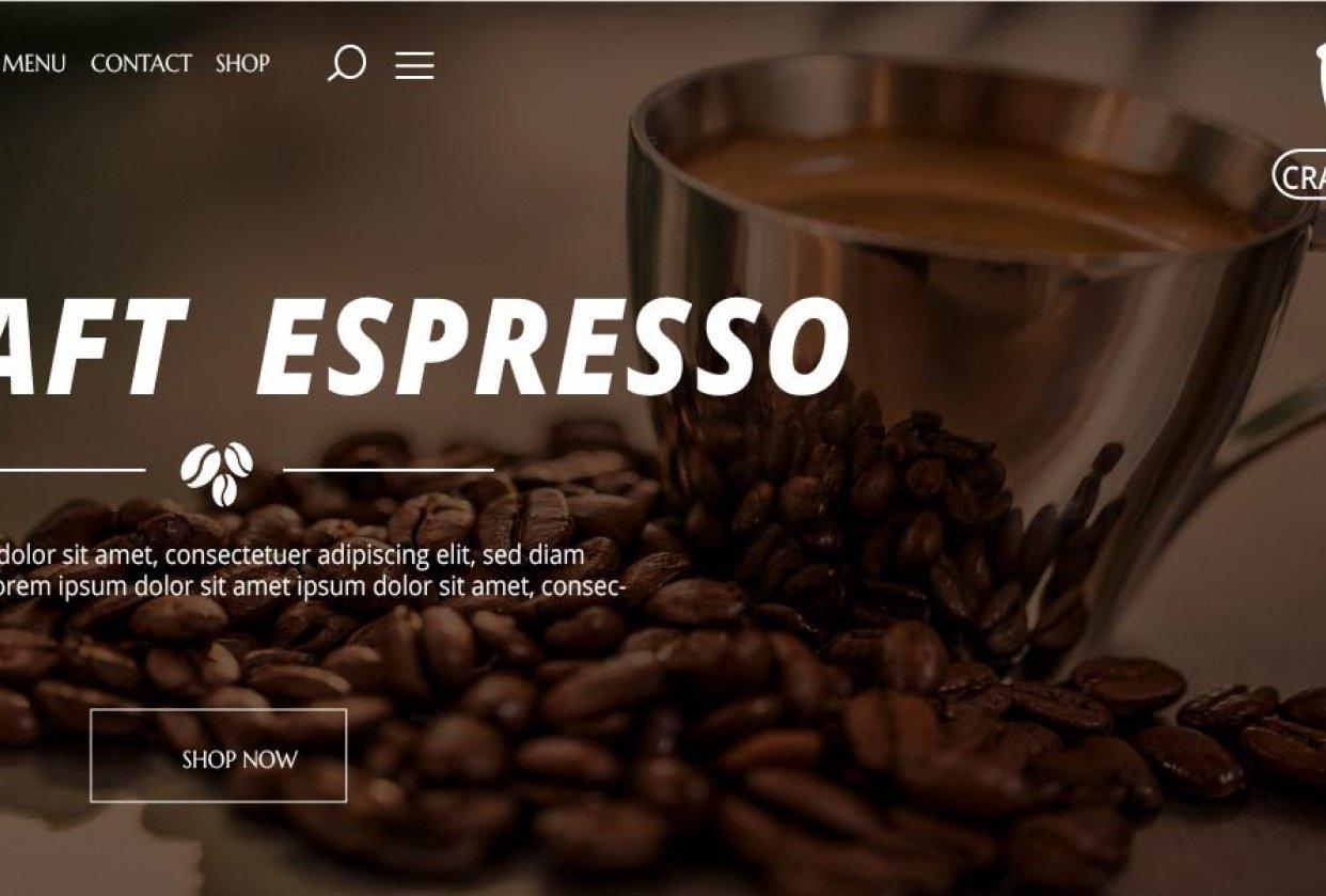Craft Espresso Web design - student project
