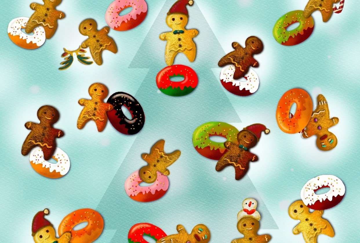 Gingerbread men and their donuts - student project