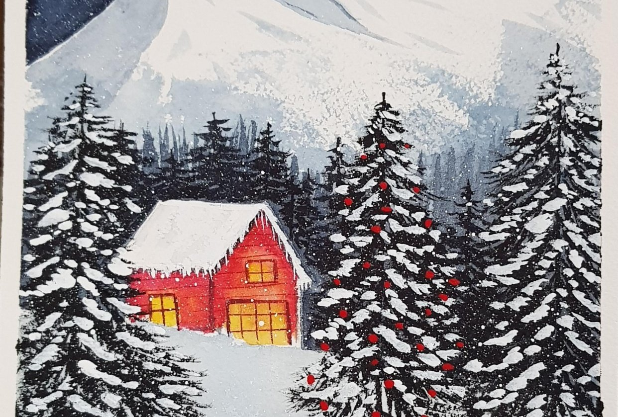 Snow landscape - student project